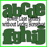 Lucky St Patricks Day Alphabet