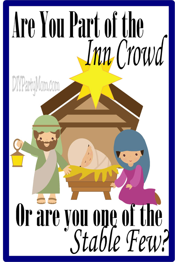 The Stable Few Christian Printable