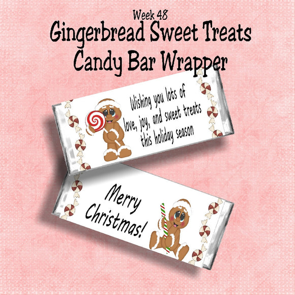 Gingerbread Sweet Treat Christmas Candy Bar Wrapper