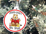 Grade Teacher Christmas Ornament with Student Names Personalized