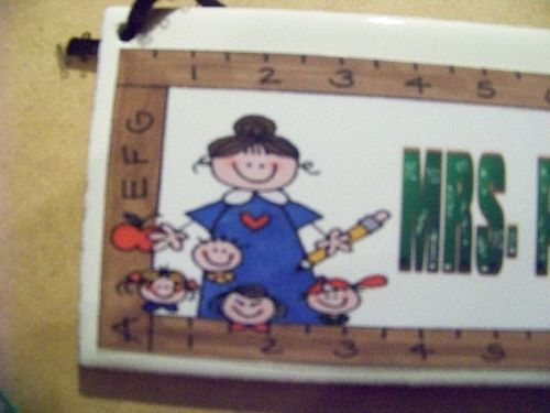 Teacher Group Personalized Name Plaque