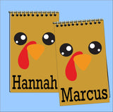Turkey Face Personalized Mini Notebook Party Favor
