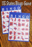Whether you are having a patriotic party or crossing the country and looking for a quiet activity for the kids, this US State bingo game is the perfect game for your family. #usstates #bingogame #travelgames #familytravel