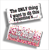 Naughty Valentines Day Candy Bar Wrapper