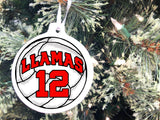 Sports Ball Personalized Christmas Ornament