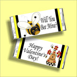 Will You Be Mine Valentine Candy Bar Wrapper