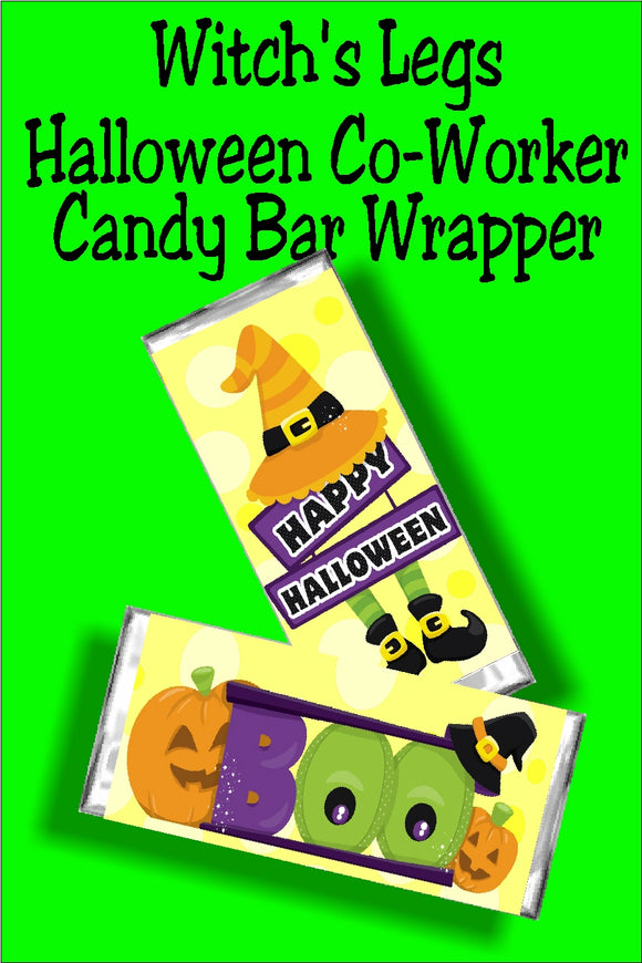 Witch's Legs Halloween Candy Bar Wrapper
