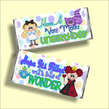 Alice in Wonderland Birthday Candy Bar Wrapper