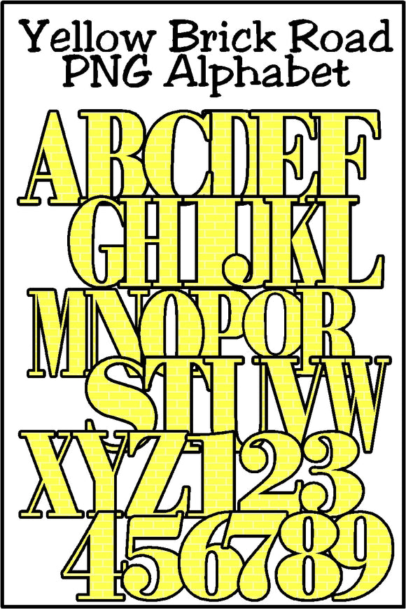 Yellow Brick Road Alphabet