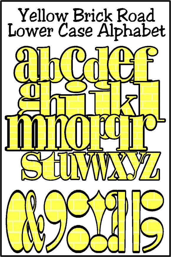 Yellow Brick Road Lower Case Alphabet