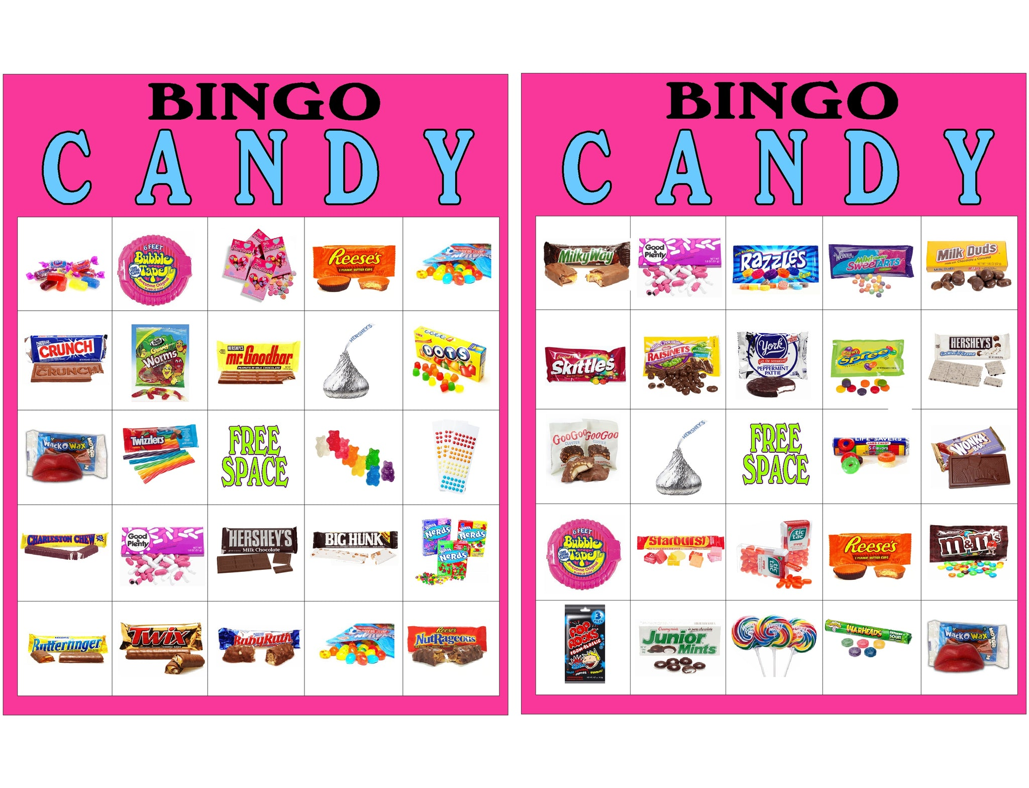 image regarding Printable Candyland Cards named Sweet Bingo Video game Printable EverydayParties