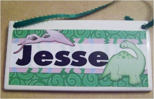 Dinosaur Personalized Name Plaque