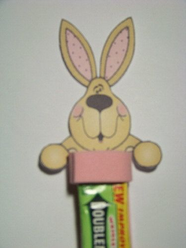 Easter Bunny Gum Head Printable and Directions