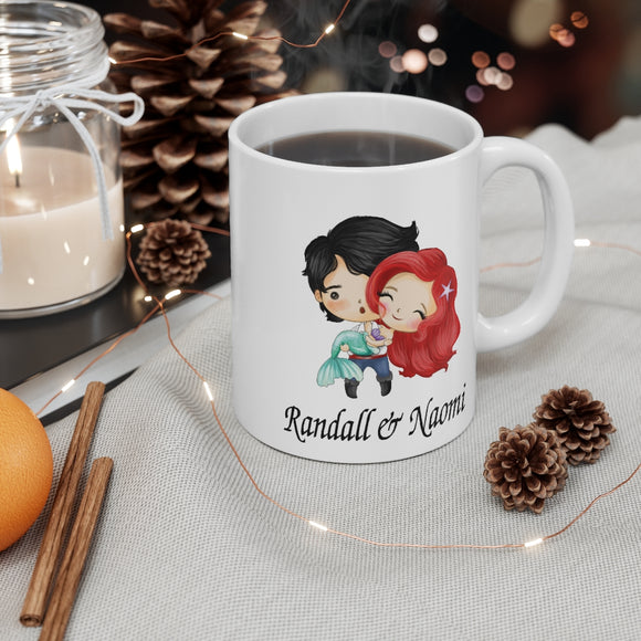 Little Mermaid Couple Fairy Tale 11 oz Ceramic Mug