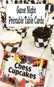 Turn your dessert table into a fun game with these printable table cards.