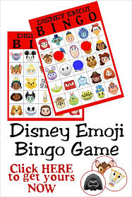 Disney Emoji Bingo Game