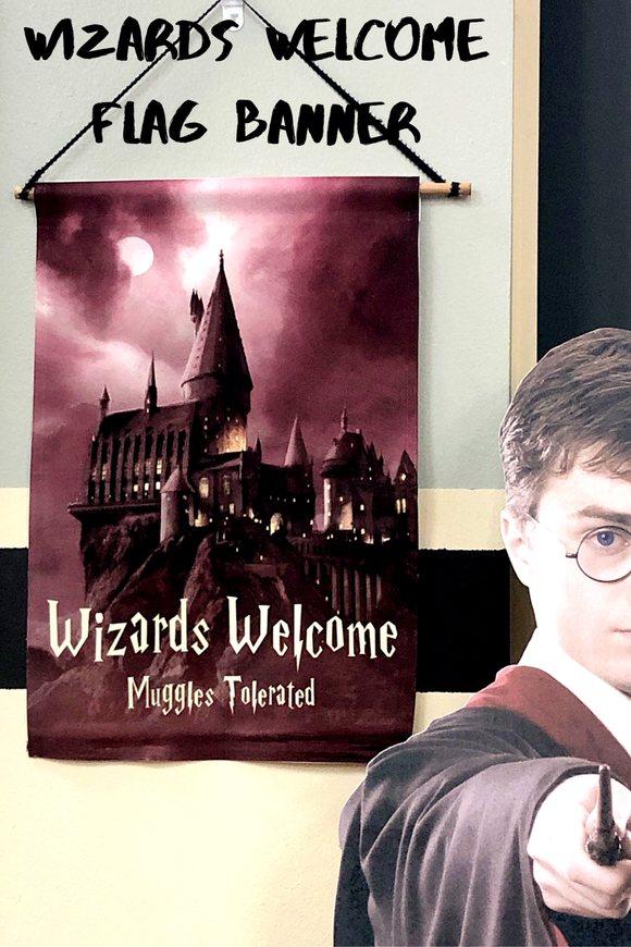 Wizards Welcome Banner Sign