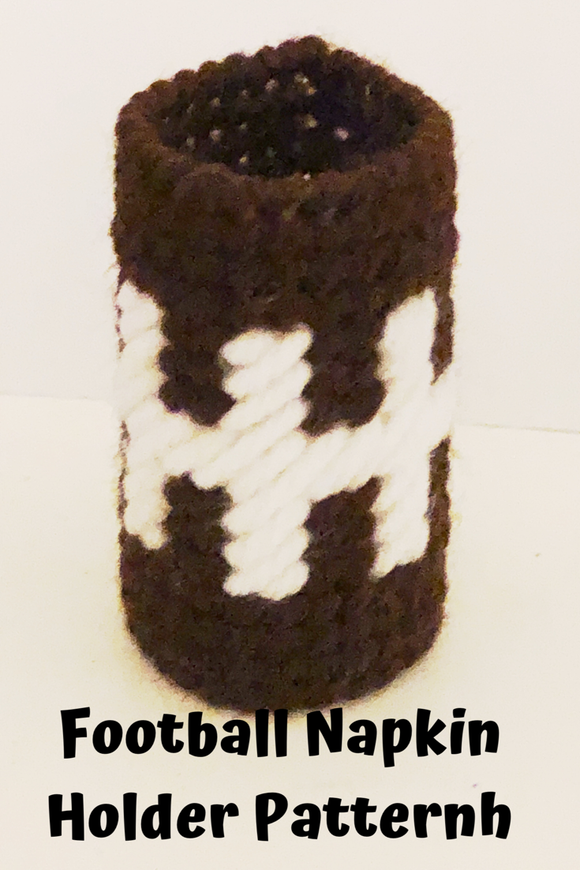 Create a fun football party decoration for your dinner table with this fun football laces napkin ring.  Ring is an easy and fun craft to make if you know the basics of plastic canvas.