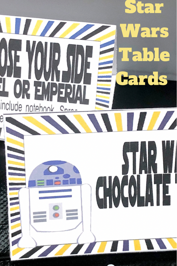 Star Wars Table Card Place Setting Printable