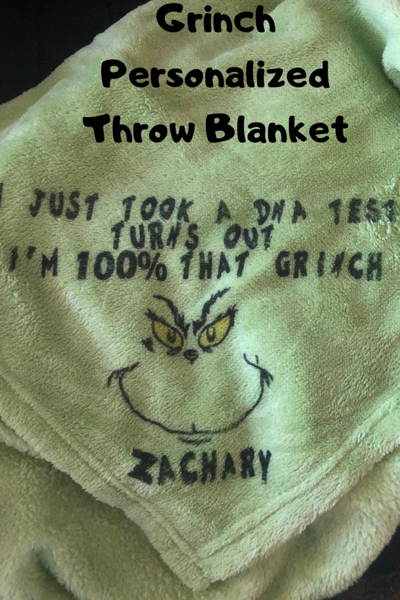 That Grinch Personalized Throw Blanket