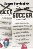 Create a fun Soccer party favor or Soccer Team Treat with these Soccer Survival Kits.  Kits are filled with lots of sweet treats to encourage your guests or players to have lots of  great Soccer fun.