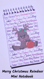 Merry Christmas Reindeer Mini Notebooks