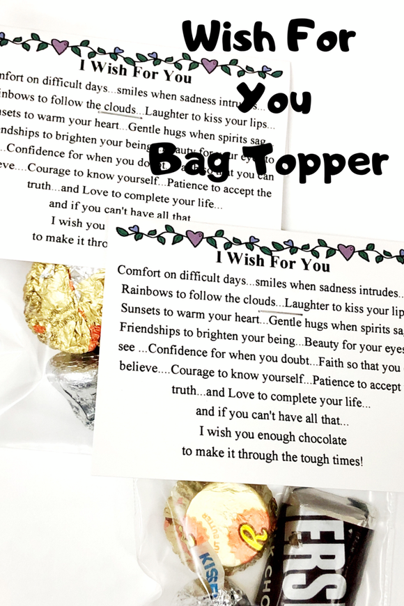 Wish For You Bag Topper Printable