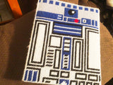 R2D2 Star Wars Mini Notebook Plastic Canvas Pattern