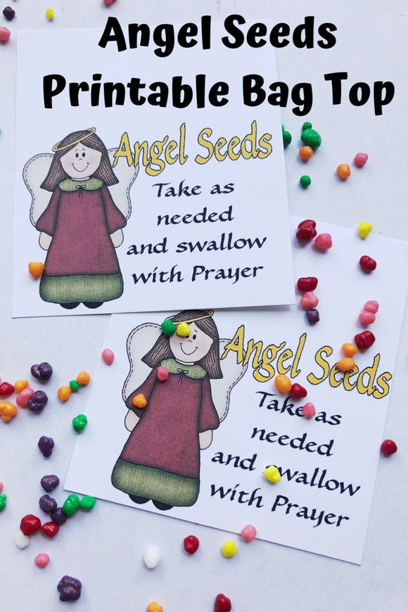 Give those on your Christmas list a sweet, uplifting gift this holiday season with this Angel Seed candy topper printable.