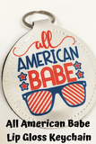All American Girl Lip Gloss Keychain Holder