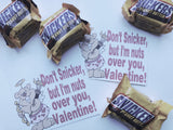 Snickers Valentine Bag Topper