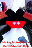 Mickey Mouse Plastic Canvas Napkin Ring Pattern