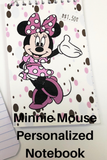 Mickey and Minnie Mouse Personalized Notebook Party Favor