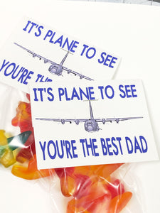 Plane to See Dad Bag Topper