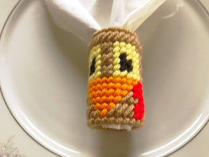 Turkey Face Napkin Ring Plastic Canvas Pattern