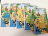 Dinosaur Party Favor Personalized Notebook