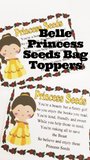 Let each of the guests at your Beauty and the Beast party be a special princess with these Princess Seed bag topper printables. These party favors make great treats on your dessert table or favors in your party bags for Princess Belle and her Beast