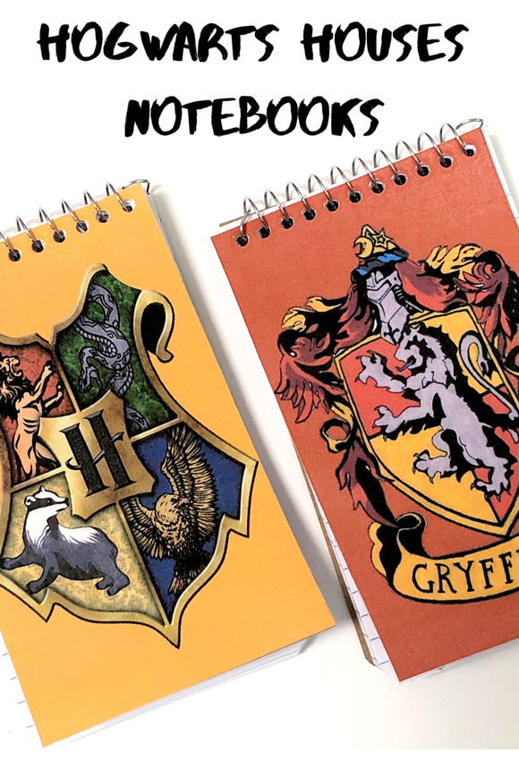 Choose your Hogwarts House at your Harry Potter party with these fun, personalized mini notebooks notebooks make great party favors or treats at your party and are the perfect way to say thank you for coming