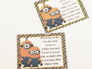 Minion Seeds Bag Topper Printable