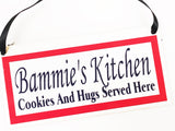 Grandma's Kitchen Personalized Name Plaque