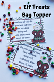 Let your Elf on the Shelf bring some yummy Christmas treats to your kids and take the day off! This printable bag topper is an easy Elf on the Shelf activity and a fun gift idea for the kids.