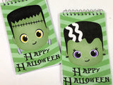 Frankenstein Halloween Monster Personalized Notebook Party Favor