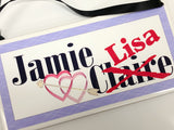 Jamie and Me Outlander Personalized Name Plaque