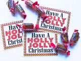 Holly Jolly Christmas Printable Bag Toppers