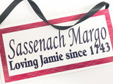 Sassenach Outlander Personalized Name Plaque