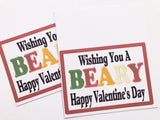 Beary Happy Valentines Day Candy Bag Topper