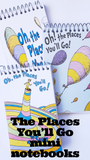 Oh, the Places you'll go! What a great graduation party, baby shower, or sissy birthday party idea.  and these mini notebooks are the perfect addition to Party favor bags as they can be used for years after the party!