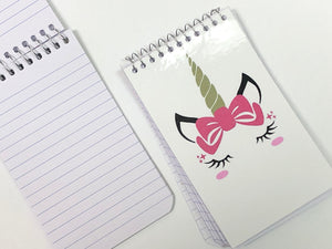 Unicorn Notebook Personalized Party Favor