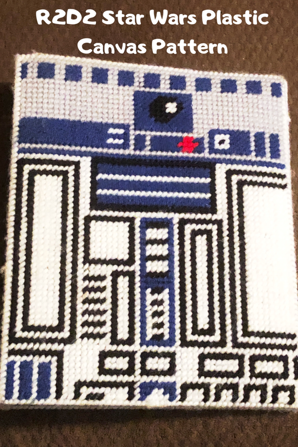 May the Force be with You as you organize and beautify your home. Do it using notebooks made cute with this R2D2 Star Wars mini notebook cover.  Using basic plastic canvas stitches, this plastic canvas pattern will make your home or office out of this world.