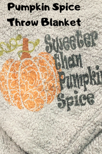 Pumpkin Spice Throw Blanket